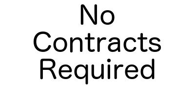No contracts are required for a one time pest control visit.