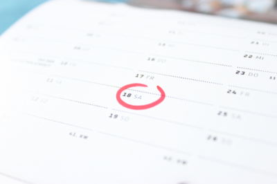 A marked calendar to signify a scheduled pest control visit